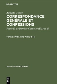 Cover Avril 1845–avril 1846