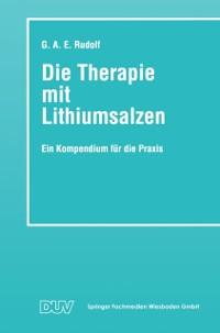 Cover Die Therapie mit Lithiumsalzen