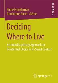 Cover Deciding Where to Live