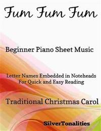 Cover Fum Fum Fum Beginner Piano Sheet Music