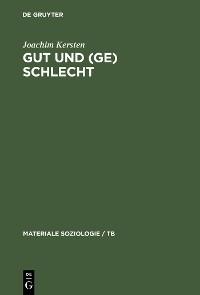 Cover Gut und (Ge)schlecht