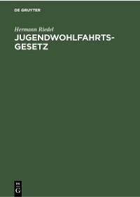 Cover Jugendwohlfahrtsgesetz
