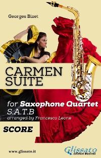 """Cover """"Carmen"""" Suite for Saxophone Quartet score & parts"""
