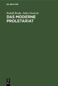 Cover Das moderne Proletariat