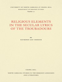 Cover Religious Elements in the Secular Lyrics of the Troubadours