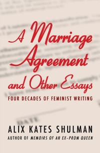 Cover Marriage Agreement and Other Essays
