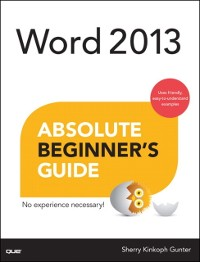 Cover Word 2013 Absolute Beginner's Guide