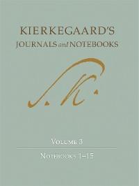 Cover Kierkegaard's Journals and Notebooks, Volume 3