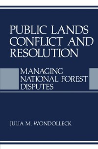 Cover Public Lands Conflict and Resolution
