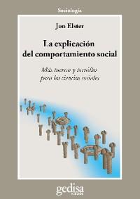 Cover La explicación del comportamiento social