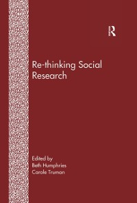 Cover Re-Thinking Social Research