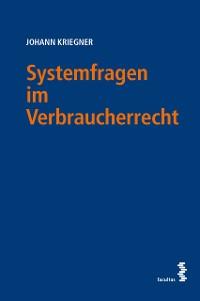Cover Systemfragen im Verbraucherrecht