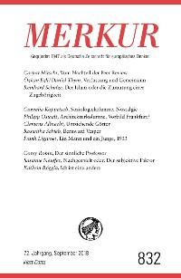 Cover MERKUR Gegründet 1947 als Deutsche Zeitschrift für europäisches Denken - 2018-09