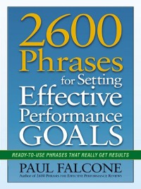 Cover 2600 Phrases for Setting Effective Performance Goals