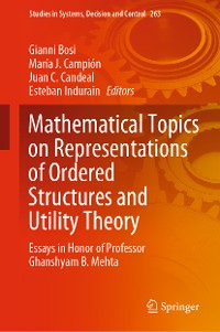 Cover Mathematical Topics on Representations of Ordered Structures and Utility Theory