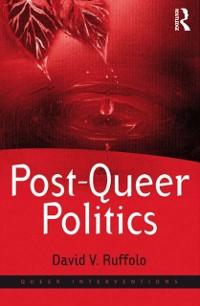 Cover Post-Queer Politics
