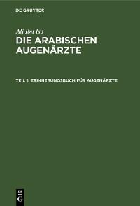 Cover Erinnerungsbuch für Augenärzte