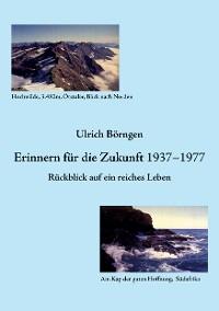 Cover Erinnern für die Zukunft 1937 – 1977