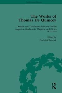 Cover Works of Thomas De Quincey, Part I Vol 3