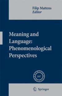 Cover Meaning and Language: Phenomenological Perspectives