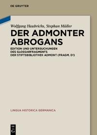 Cover Der Admonter Abrogans