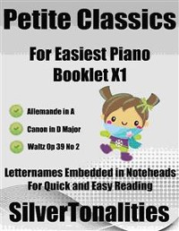 Cover Petite Classics for Easiest Piano Booklet X1
