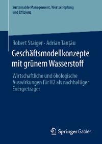 Cover Geschäftsmodellkonzepte mit grünem Wasserstoff