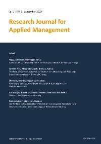 Cover Research Journal for Applied Management - Jg. 1, Heft 1