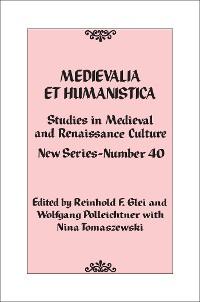 Cover Medievalia et Humanistica, No. 40