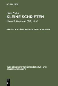 Cover Aufsätze aus den Jahren 1968–1976