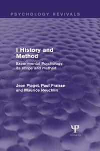Cover Experimental Psychology Its Scope and Method: Volume I (Psychology Revivals)