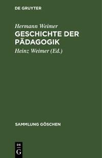 Cover Geschichte der Pädagogik