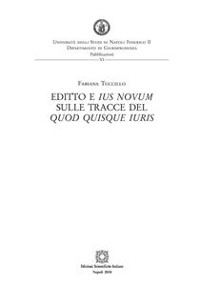Cover Editto e ius novum