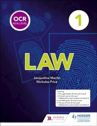 Cover OCR AS/A Level Law Book 1