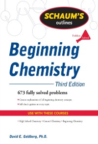 Cover Schaum's Outline of Beginning Chemistry, Third Edition