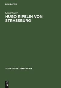Cover Hugo Ripelin von Straßburg