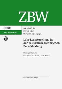 Cover Lehr-Lernforschung in der gewerblich-technischen Berufsbildung
