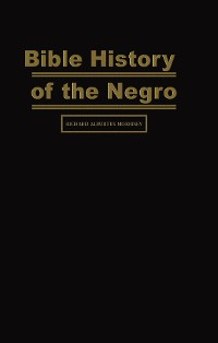 Cover Bible History of the Negro