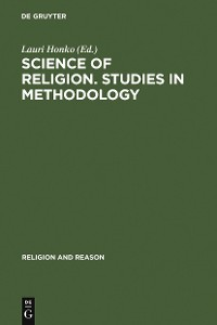 Cover Science of Religion. Studies in Methodology