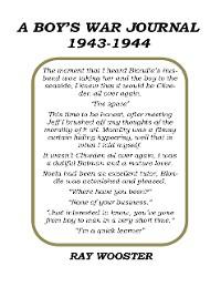 Cover A Boy's War Journal 1943-1944