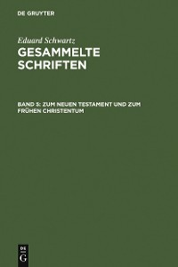 Cover Zum Neuen Testament und zum Frühen Christentum