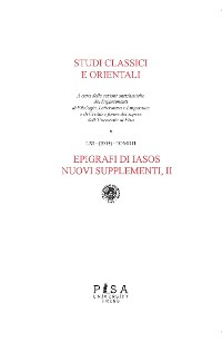 Cover Epigrafi di IASOS