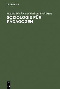 Cover Soziologie für Pädagogen