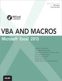 Cover Excel 2013 VBA and Macros