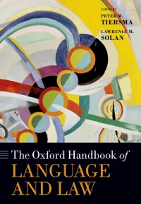 Cover Oxford Handbook of Language and Law