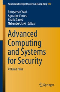 Cover Advanced Computing and Systems for Security