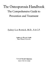 Cover The Osteoporosis Handbook