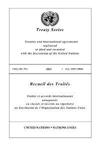 Cover Treaty Series 2927/Recueil des Traités 2927
