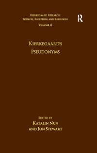 Cover Volume 17: Kierkegaard's Pseudonyms