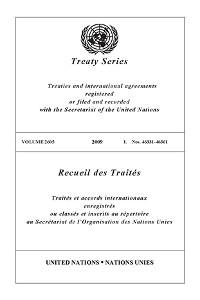Cover Treaty Series 2605/Recueil des Traités 2605